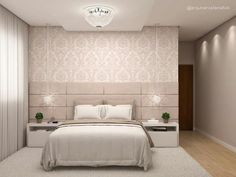 Idea, tactics, as well as guide with regards to receiving the absolute best end result and coming up with the optimum utilization of bedroom furniture layout Luxury Bedroom Design, Bedroom Bed Design, Bedroom Furniture Design, Home Decor Bedroom, Interior Design, Furniture Layout, Bedroom Layouts, Luxurious Bedrooms, Bedroom Apartment