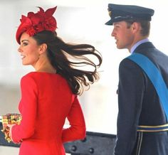 Duke & Duchess of Cambridge at Jubilee River Pageant. June 3, 2012.