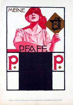 Original Vintage 1926 Ludwig Hohlwein Meine Pfaff Print by HodesH
