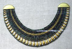 Broad collar necklace from the tomb of Senebtisi  Dynasty 12, late–early 13 ca. 1850–1775 B.C.  Accession Number: 08.200.43