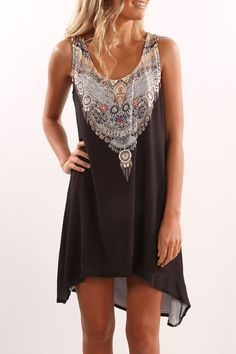 Upstate Dress Black