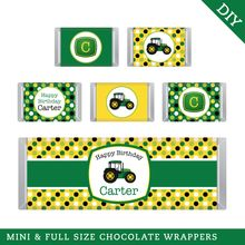 Tractor Party Hershey Bar Labels (Digital File)