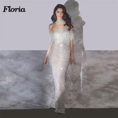 Sparkly Mermaid Evening Dresses Arabic Muslim Dubai Sexy Formal Prom Dress  With Off Shoulder Party Gowns Robe de soiree b974f5873553