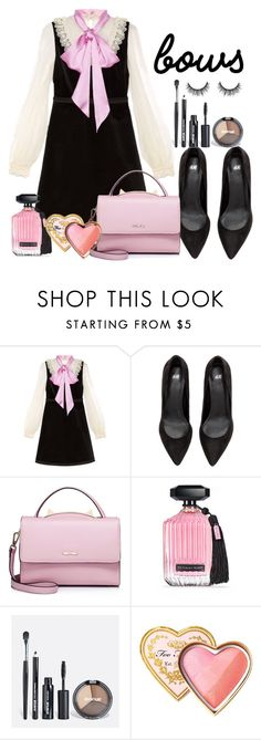 """""""Untitled #693"""" by ashantay87 on Polyvore featuring Gucci, WithChic, Victoria's Secret, Avenue and Too Faced Cosmetics"""