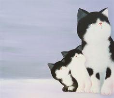 Curious cat love