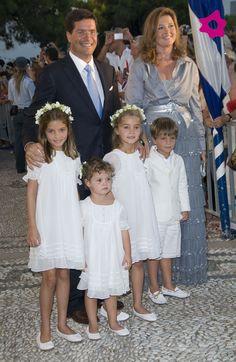 Los pajes de la boda de Tatiana Blatnik y Nicolás de Grecia