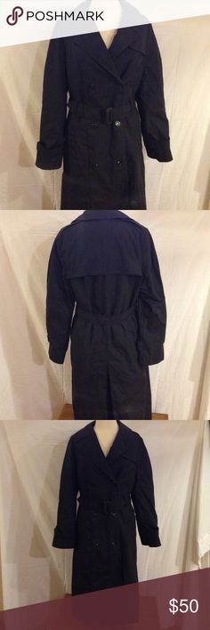 Trench Coat w/ Removable Inner Lining *Long Length This is a military issues trench coat for women.  it is in great condition just a little dusty from being put away for years. It is a DSCP Garrison Edition and is very long!!! ( See picture above for measurements. Garrison Collection Jackets & Coats Trench Coats