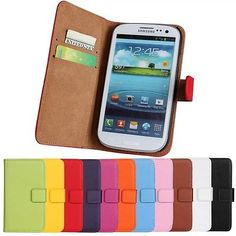 Genuine Wallet Leather Phone Case Cover For Samsung Galaxy S3 I9300 Neo i9301