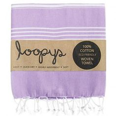 Lilac Premium Original Turkish Towel.  Made by Loopys