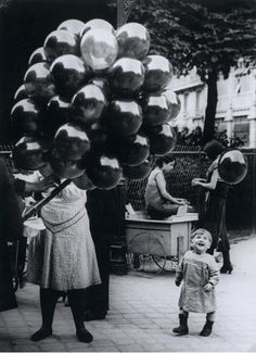 Balloon Merchant by Brassai, 1931