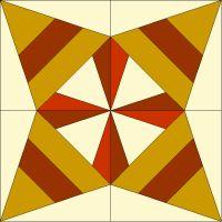 365 Paper Pieced Quilt Blocks: Block #44 - Thanksgiving Star