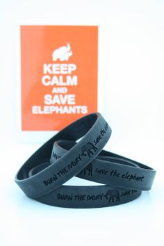 Say NO To Ivory and help spread awareness of the elephant poaching crisis by wearing a Burn The Ivory | Save The Elephant bracelet. Purchase a bracelet here: http://burntheivory.org/shop/