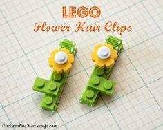 DIY LEGO Flower Hair Clips