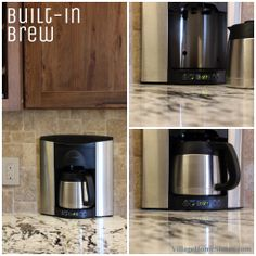 The Brew Express #countertop #coffee system keeps your counter space open and available and gives a great custom look.  Contact us with any questions!   |   VillageHomeStores.com Counter Space, Rustic Kitchen, Drip Coffee Maker, Countertops, Brewing, Kitchen Appliances, Counter Tops, Cooking Ware, Home Appliances