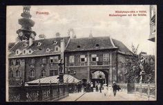 104482 AK Bratislava Pressburg Pozsony Michaelergasse mit Brücke 1909