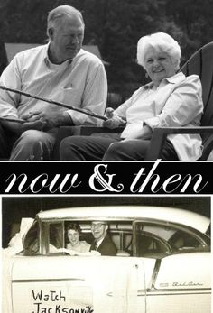 Now And Then Photo (Set) 50th Anniversary Party Invitation by PurpleTrail.com