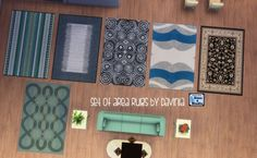 Set of Six Area Rugs by Davinia at Mod The Sims via Sims 4 Updates #Sims4