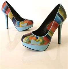 I Think I Love You - hand painted shoes by Hourglass Footwear. They even do custom orders and bridal shoes!