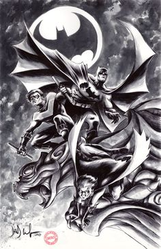 Batman, Nightwing, and Robin - Dave Wachter