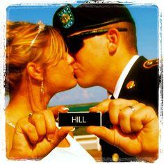 Military wedding photo