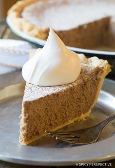 Absolutely the Best Cinnamon Pie Recipe! Perfect creamy cinnamon filling baked into a golden crust. Cinnamon Pie is the perfect dessert for holiday meals.