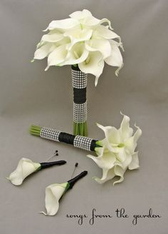 Wedding Flower Package Real Touch Callas by SongsFromTheGarden, $140.00