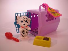 Vintage Littlest Pet Shop Happy Puppy and Puppy Carrier 1992 Kenner on Etsy, $13.00