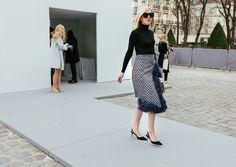 Jane Keltner de Valle in a Prada skirt