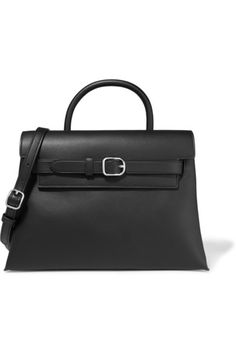 Black leather (Calf) Magnetic-fastening front flap Comes with dust bag