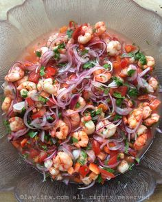 Shrimp ceviche is super easy to make, and has an incredibly fresh flavor that basically tastes like summer in your mouth! This seafood ceviche recipe is one of my favorite dishes to make and an absolute must-have for any summertime cocktail parties! Healthy Recipes, Fish Recipes, Seafood Recipes, Mexican Food Recipes, Dinner Recipes, Cooking Recipes, Seafood Appetizers, Seafood Ceviche, Seafood Salad