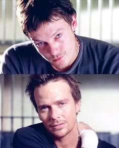 The Boondock Saints . Norman Reedus and Sean Patrick Flanery as Murphy and Connor MacManus The Boondock Saints, Sean Patrick Flanery, Spiritus, Hollywood, Fan Art, Daryl Dixon, Norman Reedus, My Guy, Great Movies