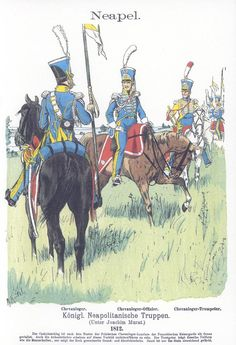 Vol 05 - Pl 48 - Königl. Kingdom Of Naples, Kingdom Of Italy, Italian Army, French Empire, French Army, Naples Italy, Napoleonic Wars, Modern Warfare, Military Art