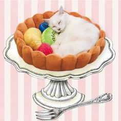 Cats Can Have Sweet Dreams in This Bed Shaped Like a Giant Fruit Tart