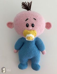 Muñeco bebé amigurumi - Free Pattern in Spanish