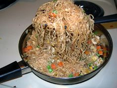 Stir Fried Ramen Noodles recipe - Tried this and it turned out pretty good. Left out one packet of seasoning, used more of the frozen veggies, added chicken and soy sauce. Most people have the ingredients on hand making it an easy dinner.
