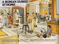 The hustle and bustle of Roman family life.