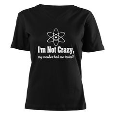 Im not crazy: Women's V-Neck Dark T-Shirt