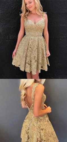 Pretty V Neck Open Back Sleeveless Lace A Line Short Homecoming Dress, BTW169#homecomingdresses #homecomingdress #burgundyhomecomingdress #burgundyhomecomingdresses Freshman Homecoming Dresses, Simple Homecoming Dresses, Burgundy Homecoming Dresses, A Line Shorts, Beautiful Women, V Neck, Lace, Pretty, Collection