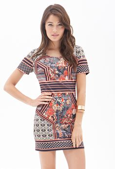 Ornate Print Bodycon Dress #SummerForever #F21Contemporary