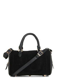 Chic Choice Bag - Black, Leather, Exposed zipper, Urban, Minimal
