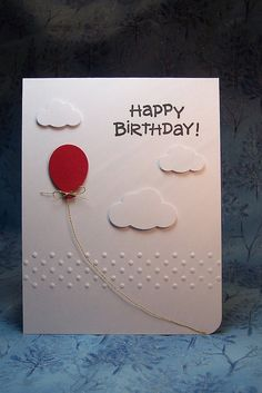love the balloon #birthday #cards