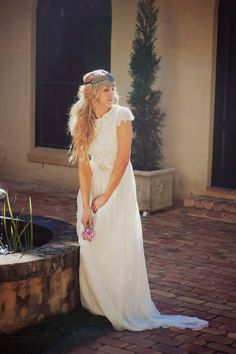 Stunning boat neck lace wedding dress with by Graceloveslace, $999.00