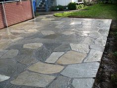 Patios: Slate and Pavers | Precision Landscape Services | Portland Oregon hardscape Lake Oswego slate patio Portland Oregon flagstone patio photos Portland Oregon slate patio