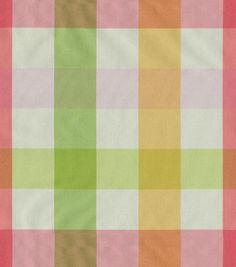 Upholstery Fabric-W.averly Carousel Check/Sorbet I think this would be PERFECT with the Floral Sofa