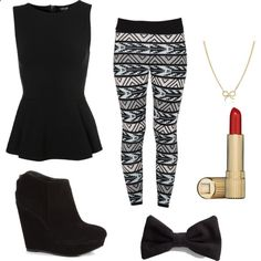 printed leggings outfits | fashion look from November 2012 featuring Topshop tops, Adina Reyter ...
