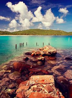Culebra, Puerto Rico. I remember standing on that exact little square for a picture. :)