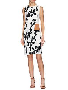 Silk Scuba Overlay Sheath Dress  from What to Wear on V-Day: Flirty Dresses on Gilt