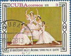 """30º Aniversario Ballet Nacional """"Grand Pas de Quatre"""", Cuba Correos"""