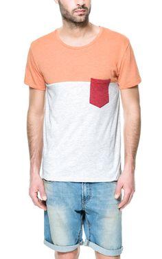 CAMISETA COLOR BLOCK - Camisetas - Hombre | ZARA Costa Rica