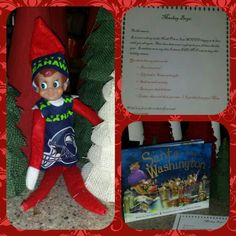 Alligator Jake-seahawk wifebeater-brought us a book-another letter to say hello-we love our elf!